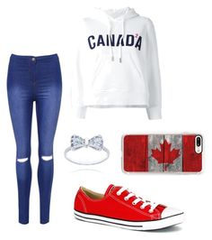 """""""Hanging in Canada"""" by emily-mcbride246 on Polyvore featuring Dsquared2, Converse, Casetify and WearAll"""