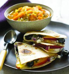 Blueberry and Cheese Quesadillas Recipe - JoyOfKosher.com