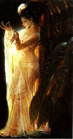 The illuminated dancer.