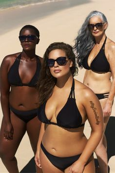 Sports Illustrated Swimsuit Issue model Ashley Graham is back for a brand new campaign for swimwear label Swimsuitsforall. The curvy beauty is joined by… Ashley Graham, Curvy Swimwear, Plus Size Swimwear, Philomena Kwao, Corps Parfait, Modelos Plus Size, Swimsuits For All, Sports Illustrated, Sexy Bikini