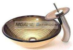 handmade glass sink, handmade glass vessel, glass sink with tap