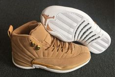 "318dd0689e4 Air Jordan 12 ""Vachetta Tan"" Cute Jordans, Jordans Girls, Jordan Shoes Girls"