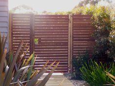 Merbau Screen with Gate #accessgate #morningtonpeninsula