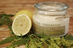 No. 04 Citrus-Herb Euphoria an energizing blend of citruses such as lemon, sweet orange, lemon verbena, grapefruit balanced with notes of cucumber, mangosteen then finished off with invigorating essentials of rosemary.   www.thetherapistcandles.com