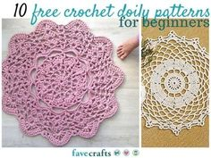 10 Free Crochet Doily Patterns for Beginners