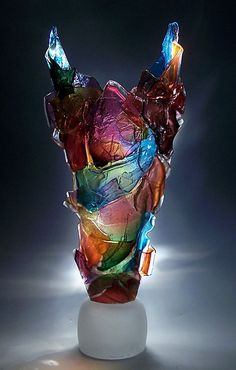 Harlequin by Caleb Nichols: Art Glass Sculpture available at www.artfulhome.com
