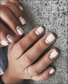 cute nail art designs for short nails 2019 page 44 - Nails - Nageldesign Cute Nail Art Designs, White Nail Designs, Acrylic Nail Designs, Acrylic Nails, White Nail Art, White Nails, White Short Nails, Spring Nail Art, Spring Nails