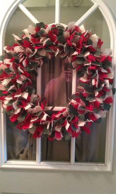 Christmas Burlap Wreath.