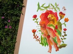 Ilustrações e colagens fantásticas de Babi Tubelo;