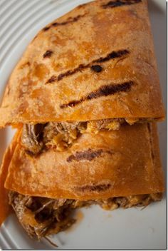 Beef Mango Quesadillas from Can You Stay for Dinner?