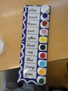 Aprendiendo los colores Toddler Learning Activities, Vocabulary Activities, Color Activities, Infant Activities, Preschool Activities, Kids Learning, Material Didático, Preschool Colors, English Activities
