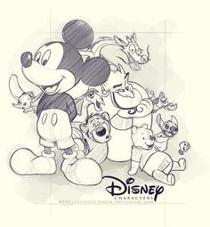 disney sketches - Buscar con Google