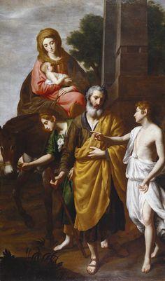 The Athenaeum - The Flight into Egypt (Alessandro Turchi - ) Manchester Art, Catholic Saints, Roman Catholic, City Gallery, Holy Family, Religious Art, 17th Century, Oil On Canvas, Artist