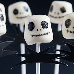 I am the Marshmallow King! JACK SKELLINGTON marshmallow pops
