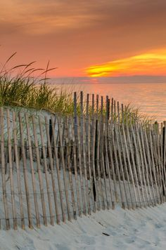 When I think of Cape Cod beaches, I always see scenes like this - the fence that lines the walkway down to the beach. Beautiful Places To Visit, Places To See, Most Beautiful, Am Meer, Best Western, Beach Scenes, Beach Photos, Beautiful Landscapes, New England