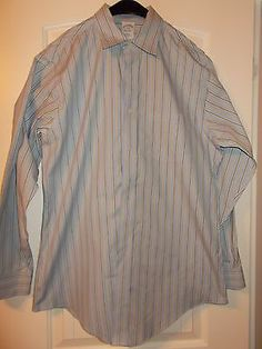 Lot of 4 Brooks Brothers No Iron Slim Fit Size 16 Dress Shirts Nice