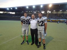 After the semi championship game for the Parma Panthers pro football team.
