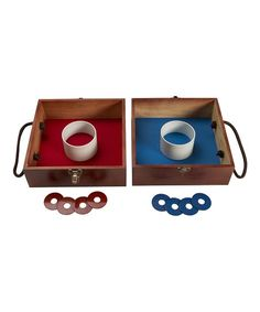 S&S Worldwide Washer Box Set | Zulily Wood Steel, Washers, Cool Pools, Little Ones, Two By Two, Entertaining, Box, Pool Fun