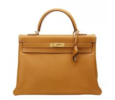 Hermes Natural Ardennes Leather Kelly 35cm Retourne