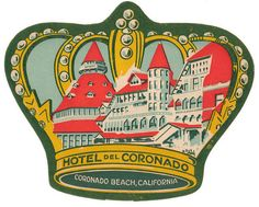 Hotel Coronado California Luggage Label