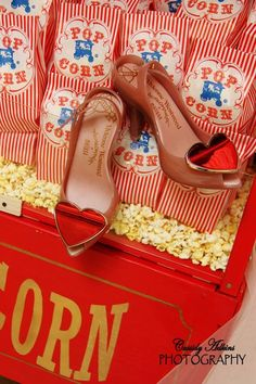 Carnival/circus theme wedding with Vivienne Westwood heels!
