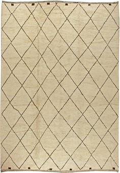 Modern Rugs: Modern Moroccan rug in beige, modern style perfect for modern interior decor, modern living room, geometric pattern rug Moroccan Area Rug, Modern Moroccan, Dude Perfect, Types Of Carpet, Types Of Rugs, Contemporary Rugs, Modern Rugs, Modern Living, Interior Design Living Room