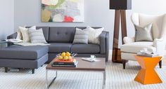 Modern Living Room on a Budget! Bring the crisp, cool style of this living room home with our editors' tips and budget-friendly picks.