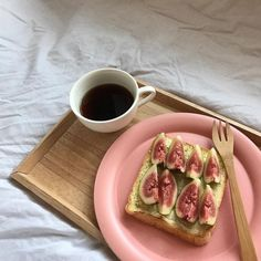 || toast, figs, wooden spoon, and coffee ||