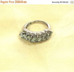 SALE 20% OFF Aquamarine Ring or Wedding Band Handmade Jewelry With White Topaz Accents March Birthstone