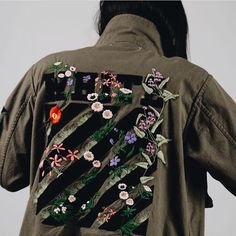 OFF-WHITE C/O VIRGIL ABLOH WOMEN'S MILITARY GREEN SAHARIANA JACKET