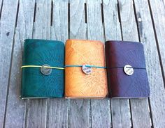 FAUXDORI - Compass Embossed Leather Fauxdori - Field Notes/Moleskine Cover - Compass Travel Journal - Midori Travelers Notebook - Candori (32.00 USD) by LeatherImagined