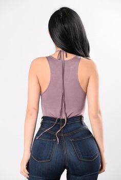 Unheard Chambers Bodysuit - Purple Grey