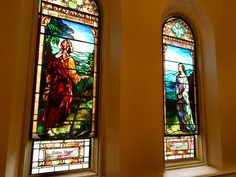 A couple of the Tiffany windows at Lafayette Avenue Presbyterian Church Rite Of Passage, Oversized Mirror, Tiffany, Windows, Couple, Art, Art Background, Kunst, Performing Arts