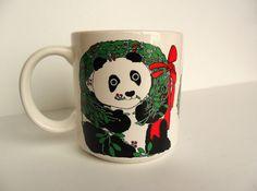 Taylor and Ng Christmas Panda Bear Mug Vintage by OldLikeUs