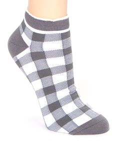Look at this Steel Gray Checkerboard Low-Cut Socks on #zulily today!