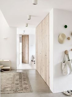 raw wood and white | home