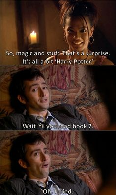 Love how David made a Harry Potter reference when he was in it :)
