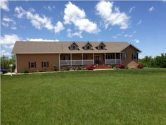 1091 Indigo Rd.  beautiful home on 16 acres. With 40 x 60 shop. 5 bdr, 4 bth, walk out basement and in ground pool. Huge kitchen, hard wood floors and two master suits. $325,000. View more at www.ArlanNewell.com