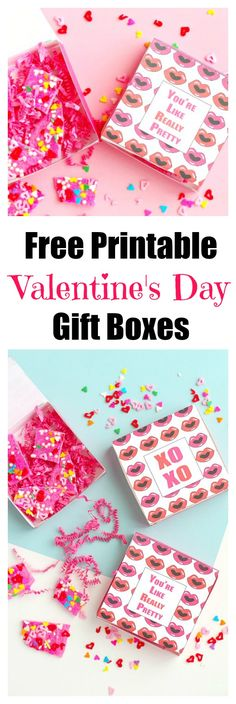 Free Printable Valentine's Day Gift Boxes