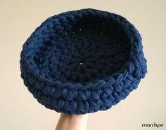 Cesto de fio de malha em maxi crochê #artesanato #decoração #fiodemalha #façavocemesmo #diy #croche #maxicroche #decor #organização #ideia #dica #handmade #craft #pap #marrispe #cesto