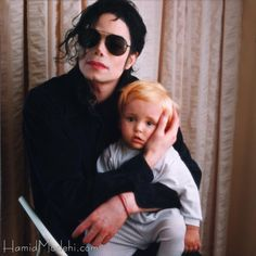 Michael Jackson  and Prince Jackson.