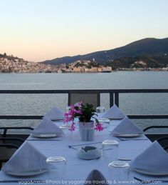 All ready for Greek Dinner Greek Dinners, Yoga Holidays, Beach Walk, Athens, Mountain Biking, Relax, Island, Building, Travel