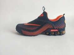 50ed9e6ad910 Mens Nike Air Shox KPU Navy Blue Orange Footwear Orange Shoes