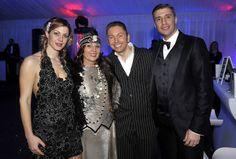 Gianluca Mech con Hernan Crespo, Alessia Rossi con la madre.