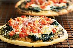These small pizzas are great for snacking on in front of the TV or make them for a light lunch.