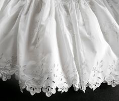 French Vintage Petticoat Hand Embroidery by Vintagefrenchlinens, $135.00