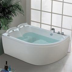 Mälaren höger hörnbadkar för två personer komplett|www.pm-hem.se Corner Bathtub, Bathroom, Google, Luxury, Washroom, Full Bath, Bath, Bathrooms, Corner Tub