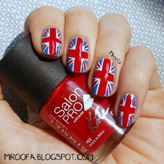 British Flag Nail Art Tutorial My Nail Art Inspiration Pinterest