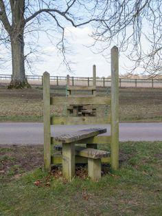 Two stiles, Blenheim Park near Woodstock, Oxfordshire, Great Britain