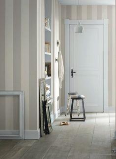 Tapete Lazy Stripe col.08 | Landhaus Tapeten in den Farben Grau | Grundton Steingrau